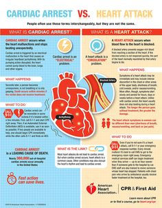 Cardiac Arrest vs Heart Attack (Infographic)
