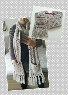 Haak-gelukjes: Warme sjaal