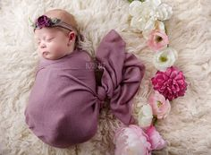 Dusty Rose - Tiny Tot Prop Shop Newborn Photo Props