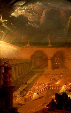 MARTIN, John (1789-1854)  Belshazzar's Feast (Daniel 5:1-31), detail 1820 Oil on canvas, 902 x 1,302 mm Yale Center for British Art