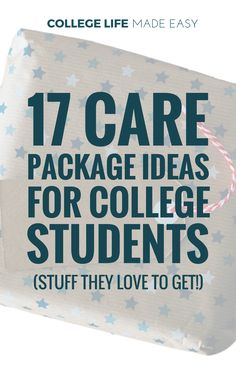 College Care Package Ideas For Girls & Guys 17 Items Students Love to Get #FinanceCollege