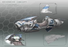 Hoverbike Concept by aFletcherKinnear.deviantart.com on @deviantART