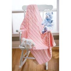 Mary Maxim - Simply Striped Blanket