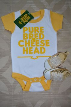 bb411f06d baby cheesehead shirt boys cheesehead tee by PurebredCheesehead Rodgers  Packers