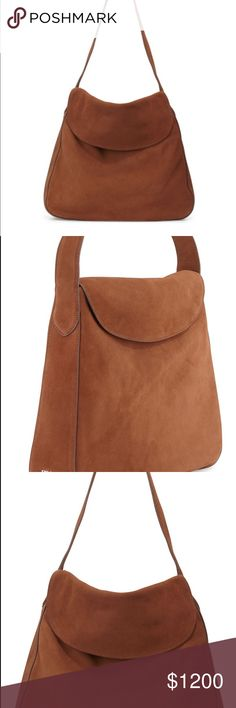 Prada double flap brown suede hobo bag medium Flat shoulder strap with 11 drop. Interior, logo jacquard lining; one slip and one zip pocket. 14.5H x 15W x 3.5D Made in Italy. Used a handful of times! Currently on the bergdorf website from $2200 Prada Bags Hobos