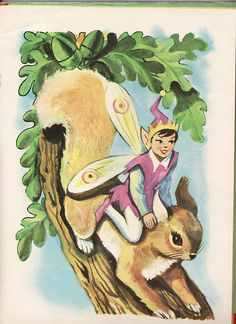 Fairy Rides a Squirrel