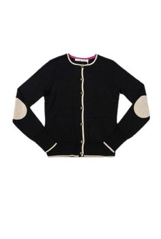 CakeStyle Holiday Gift Guide: Trina Turk Quincy Cardigan   black wool cardigan   elbow patches