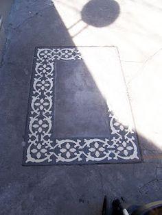 cemento alisado con detalles calcareos