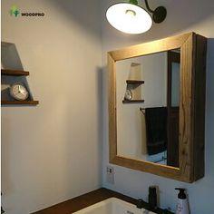 【楽天市場】OLD ASHIBA(足場板古材)ミラーキャビネット Lサイズ 無塗装幅500mm×高さ680mm×奥行150mm【洗面収納棚】【洗面鏡】【アンティーク風】【受注生産】 【小型商品】:WOODPRO(ウッドプロ) Privacy Fence Designs, Bathroom Medicine Cabinet, Woodworking, Mirror, Furniture, Home Decor, Rakuten, Flower, Doors