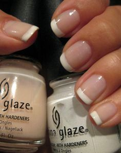 China Glaze White On White + China Glaze Innocence...classic classic french mani, you can never go wrong!