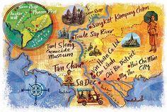 Mekong River Map: National Geographic Traveller - Nigel Owen