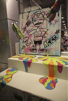 Foot Locker/ASICS retail display