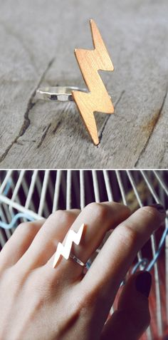 Lightning bolt ring