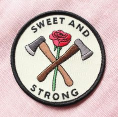 Who said ya can't be sweet and strong? New patch now on tender-ghost.com! . . . . .