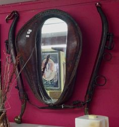 This horse collar mirror just came into the store.