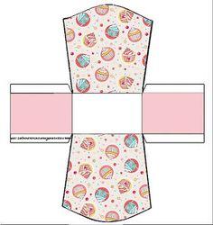 Cajitas imprimibles para fiestas de pastelitos - cupcakes 2.|OH MY FIESTA!