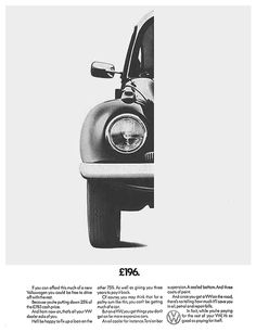 Volkswagen ads from the - Fonts In Use Max Huber, Mercedes Benz, Porsche, Popular Ads, Auto Union, Vw Group, Vw Classic, Vw Vintage, Think Small