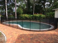 Longwood Pool Guard - Don't choose a knock off pool fence when your child's safety is at stake, choose Baby Barrier Pool Safety Fence. #PoolFence #PoolSafety #BabyBarrier