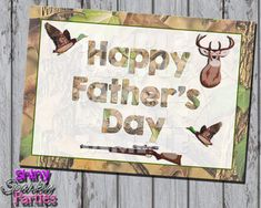 """Printable """"Father's Day Card"""" - Hunting Themed Father's Day Card - Camo Father's Day Card - Dad's Day Card - Father's Day Instant Download"""