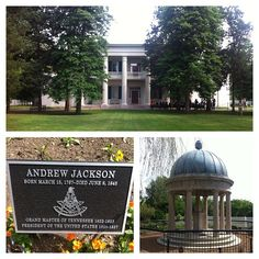 The Hermitage, Davidson County, Tennessee, 10 miles east of Nashville. Plantation home of Andrew Jackson, seventh President of the United States, 1829/1837. He died at the Hermitage in 1845.