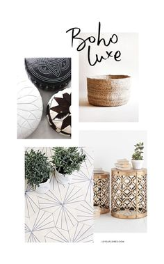 Boho Luxe Moodboard / via www.leysaflores.com Gold, tan, black, white, green