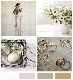 {pretty palette} spring silver + gold