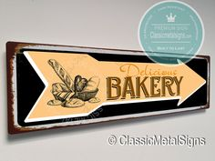 Vintage Style Bakery Sign – UV Protected Weatherproof Signs Suitable for Outdoor or Indoor Use – Exclusively from Classic Metal Signs