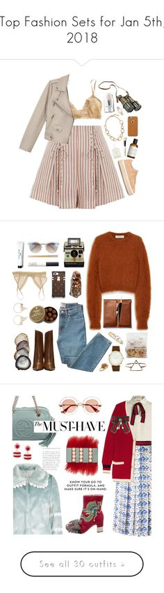 """""""Top Fashion Sets for Jan 5th, 2018"""" by polyvore ❤ liked on Polyvore featuring Zimmermann, Eberjey, Authentic Models, rag & bone, MILK MAKEUP, Kenneth Jay Lane, Moshi, Le Labo, French Girl and Bobbi Brown Cosmetics"""