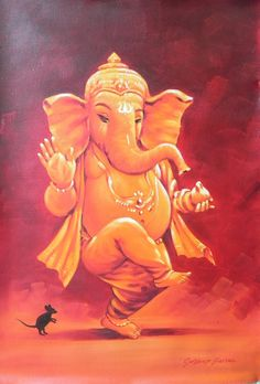 ganesha oil paintings - Google Search