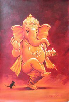 ganesha oil paintings - Google Search