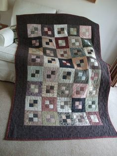 Jellyroll Quilt Idea. This would be fun to knit.