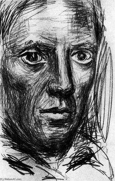 Acheter Tableau 'autoportrait 5' de Pablo Picasso - Achat d'une reproduction sur toile peinte à la main , Reproduction peinture, copie de tableau, reproduction d'oeuvres d'art sur toile
