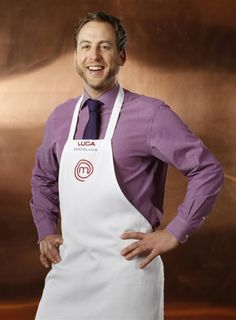 Luca Manfe from Master Chef:  He seems to have integrity.  I love his willingness to share ingredients with his competitors because he wants to win by making great food, not by playing a game.