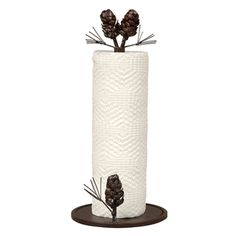 Woodland Pinecone Paper Towel Holder