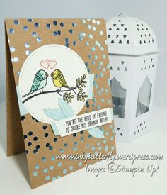 inkybutterfly: Feathers & Foil. Using the sweet Bird Banter stamp set. #stampinupuk #JustAddInk402