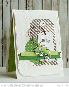 Handmade card from Inge Groot featuring Birdie Brown's Polynesian Paradise.