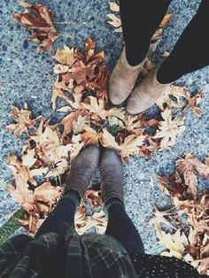 First signs of Autumn • boots • leaves • fall • season • love • fun • outfit • inspiration • style • fashion
