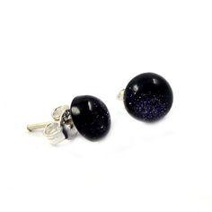 Blue Sand Gemstone Earring 925 Sterling Silver Stud Earring Beautiful Jewellery #Gopal, #Beauty