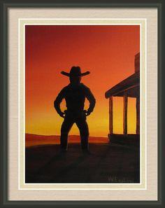 Gunfighter Framed Print By Wayne Enslow Artwork Prints, Framed Prints, Canvas Prints, Acrylic Paintings, Hanging Wire, Prints For Sale, Fine Art America, Tapestry, Artist