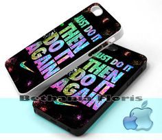 Nike-Just-Doit-Then-Doit-Again - Print on hardplastic for iPhone 4/4s and 5 case, Samsung Galaxy S3/S4 case.