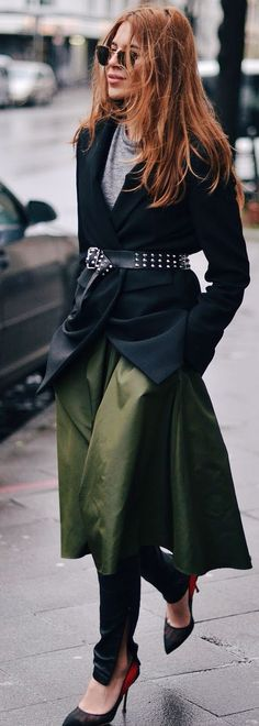 Green And Black Outfit Idea by MAJA WYH