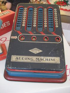 one of my favorite old adding machines