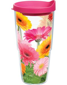 I use Tervis cups everyday for hot and cold drinks. I love the design of this one.