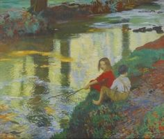 The Young Anglers - Dame Laura Knight - The Athenaeum