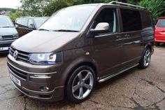 VW Transporter T5 T28 TDI BMT HIGHLINE 160ps Sportline Pk Kombi, 2.0 Diesel, Manual, 71,000 miles, toffee brown metallic, 4 doors, 1 owner at Leighton Vans for £21,995 + VAT.