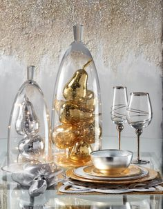 Crystal Couture: Jules Cloche & Mercury Glass Pears