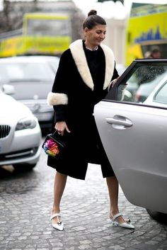 Fur trimmed coat  | for more style inspiration visit 40plusstyle.com