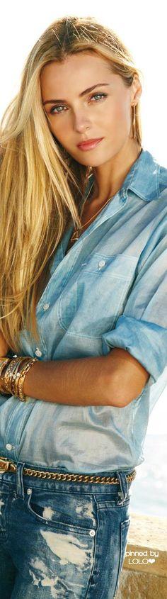 Valentina Zelyaeva for Ralph Lauren ✿⊱╮Dressed Up Denim • The LOOK BOOK by Babz • ❤️ ✿ιиѕριяαтισи❀  #abbigliamento