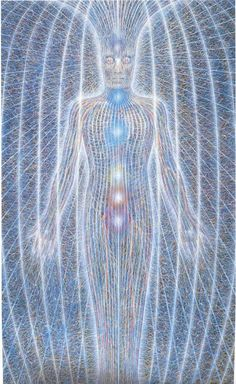 Alex Grey, artist, depiction of the human energy field. For more information, please visit www.catherinecarrigan.com