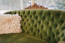 Vintage Seating for #Cocktail Hour   See the wedding on SMP: http://www.StyleMePretty.com/2014/01/02/mount-hope-farm-wedding/ Michelle Gardella Photography